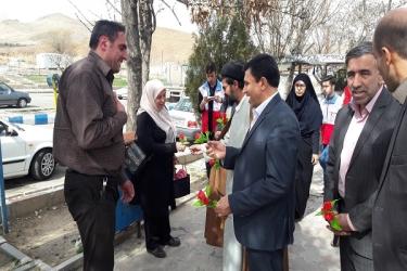 علی اکبرسلیمانی،فرماندارآوج، استقبال، مسافرین نوروزی