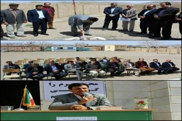 علی اکبرسلیمانی،فرماندارآوج، کلنگ زنی، نمازخانه، مدرسه، اردلان