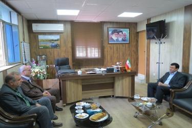 علی اکبرسلیمانی،فرماندارآوج،دیدار،مدیرکل،بنیادشهید