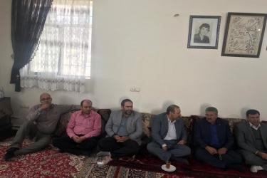 علی اکبرسلیمانی،فرماندارآوج،نشست، خانواده شهید،حصارولیعصر
