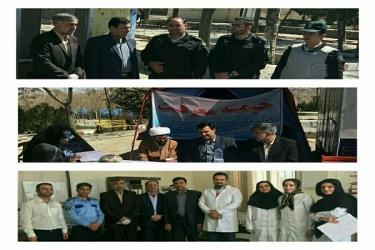 علی اکبرسلیمانی،فرماندارآوج،بازدید،پایگاه، راهنما،مسافرین نوروزی
