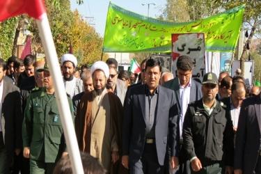 علی اکبرسلیمانی،فرماندارآوج، راهپیمایی،13 آبان
