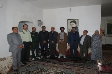 علی اکبرسلیمانی،فرماندارآوج، دیدار،خانواده شهدا